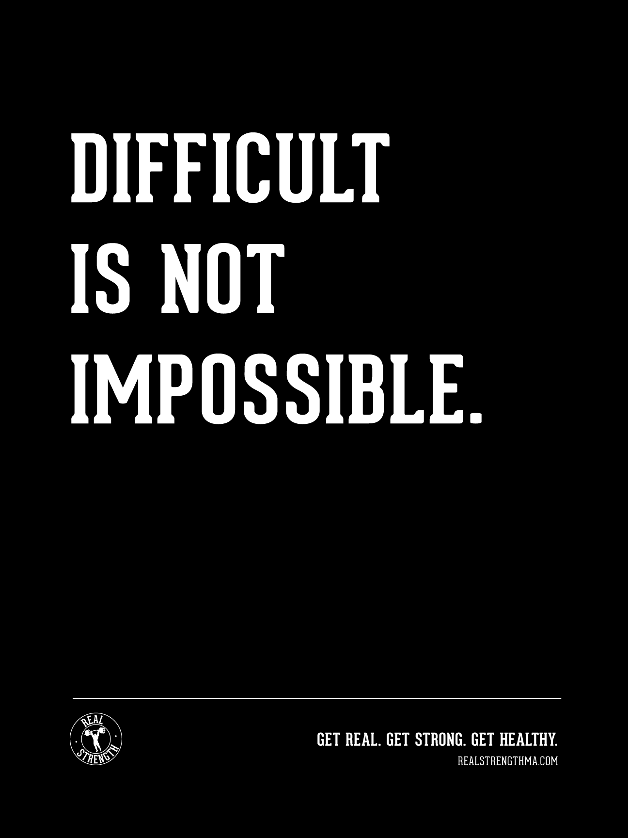 Difficult is not impossible.